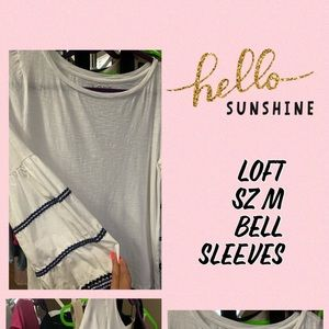 Rock this white top with bell sleeves. ♥️  Sweet